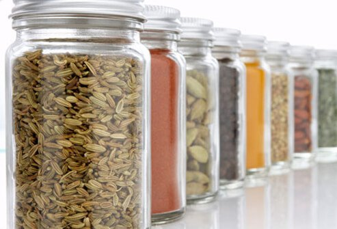 Jars of spices.