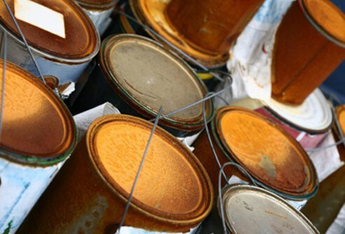 Dispose of old cleaning products, cans of paint, thinners, oils, solvents, stains, and other forms of 'toxic' trash.