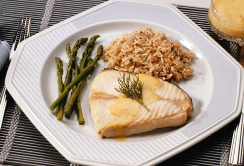 A good diet for stroke prevention includes veggies, fish and whole grains.