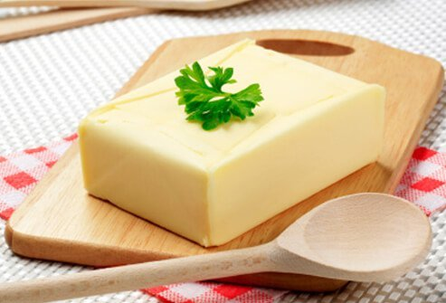 Stick butter and margarine are high in saturated fat.