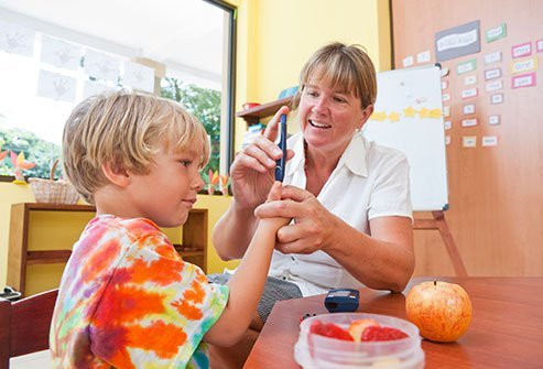 If your child has diabetes, work with school staff to keep him or her safe.