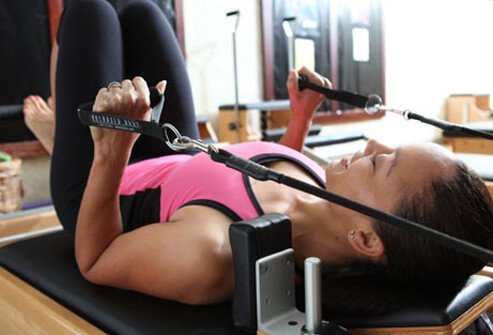 What sets Pilates apart is its focus on toning the muscles with springs, bands, or your own body weight.