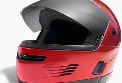 Safety experts estimate that wearing a helmet cuts cyclists' risk of head injury by half.