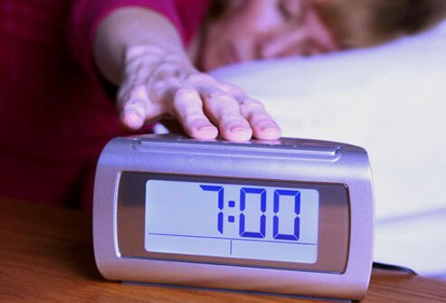 Turn your alarm clock around to help you fall asleep.