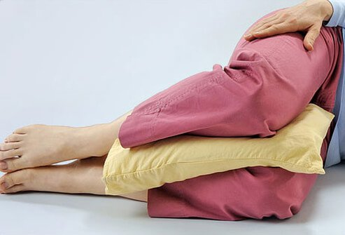 Place a pillow between your knees to protect your back.