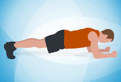 An illustration of a plank exercise.