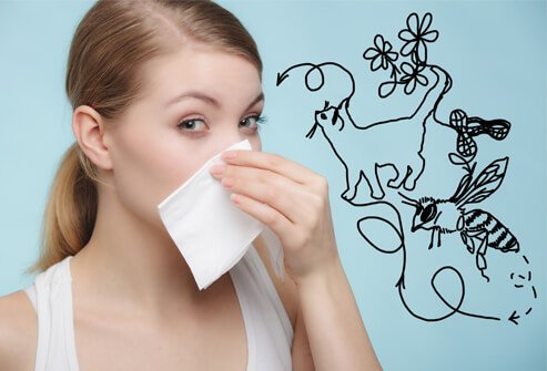 About one in every five people develops allergies.