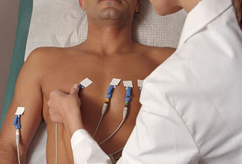 Photo of man getting EKG.