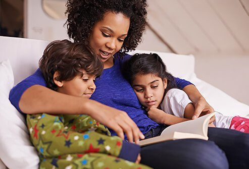 Reading a book at bedtime is much healthier than iPad screen time.