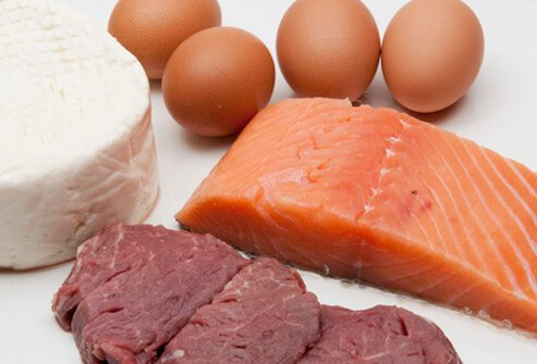 Raw meat, fish, eggs, and cheese.