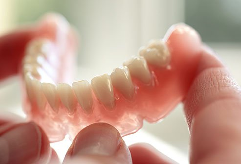 Dentures can leave spaces for nasty bacteria to grow.