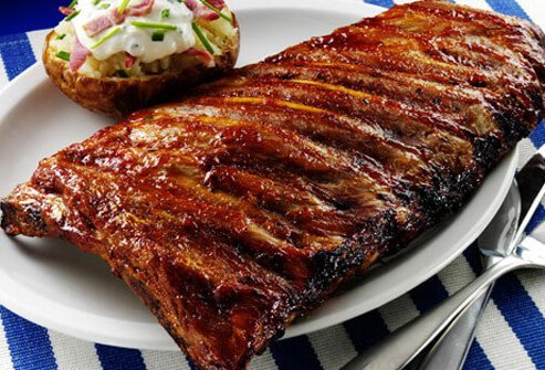 Photo of a rack of ribs.