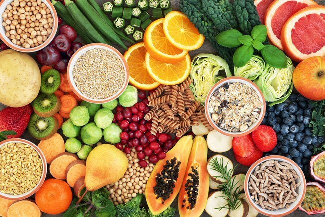 Foods high in fiber helps with constipation that becomes common with age.