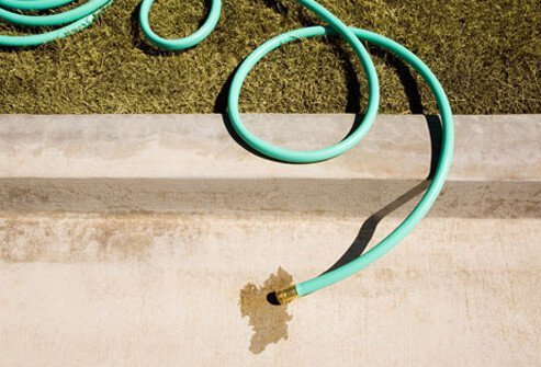 A water hose symbolizing the withdrawal (pulling out) method.