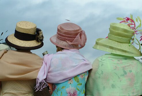 Older women with hats.