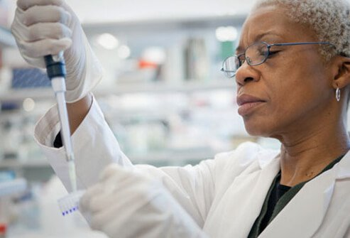 Photo of a DNA technician.