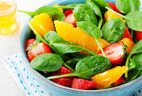 Eat plenty of fresh produce to get nutrients necessary for proper blood clotting.