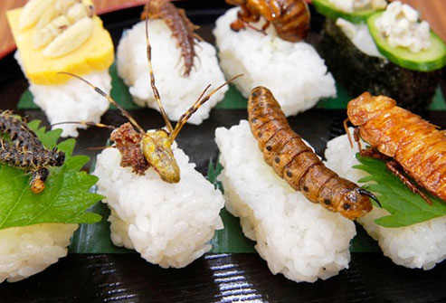 You might think of eating insects as something kids do on a dare.