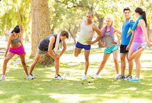 Stretching prior to exercise is a good way to protect joints and decrease the risk of bursitis.