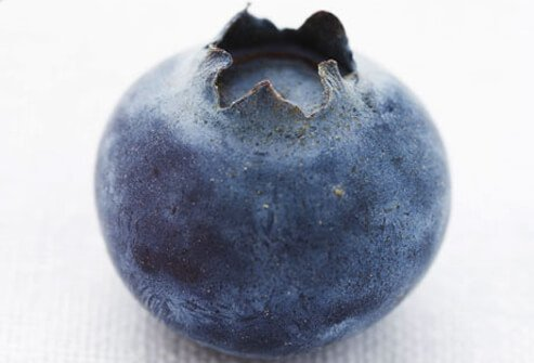 Close-up of a blueberry.