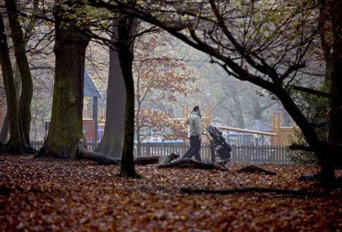 Photo of couple in park, coping with cervical cancer.