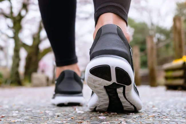 Make sure to choose shoes for walking and not sports if you're beginning a walking program.