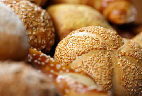 A photo of assorted bread rolls.
