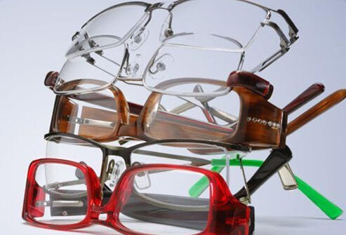 Photo of stylish eyeglasses.