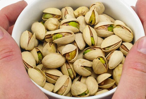 Pistachios and the zinc they contain can help you with erectile dysfunction issues.