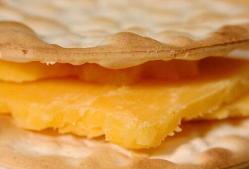 Cheese and crackers.