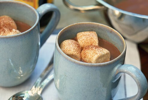 Hot chocolate with marshmellows.