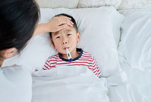 Room Temperature For A Sick Child With Fever