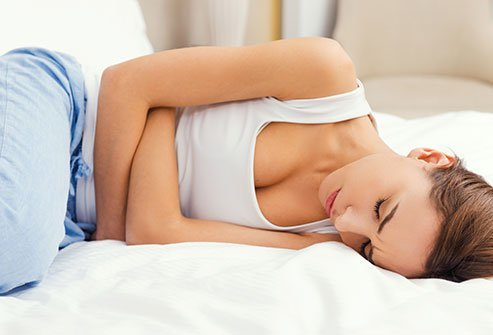 GI trouble may occur before or during the menstrual period.