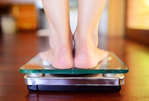 Estradiol affects leptin levels and weight.
