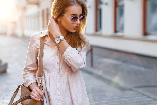 Dress in light layers to help beat the heat.