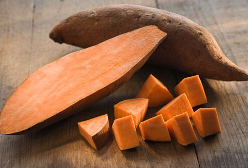 Sweet potatoes pack vitamins and are cholesterol-free and fat-free food, providing helpful, immune-boosting benefits.
