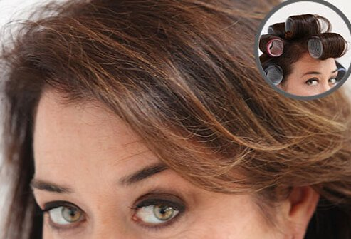 Use a round barrel brush to make thinning hair appear fuller.