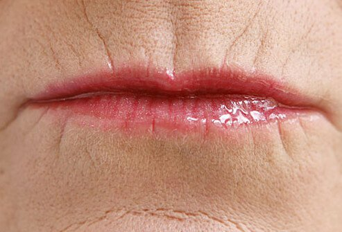 Use moisturizer and foundation on lips before applying lipstick to prevent the color from bleeding.