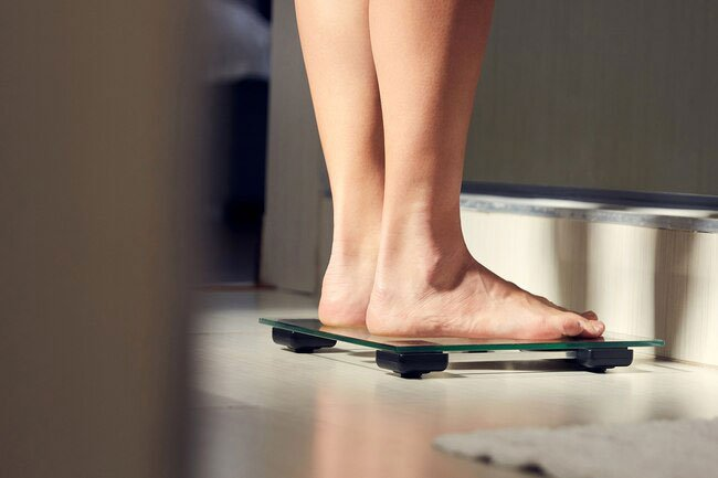 Weighing yourself first thing in the morning after you pee is more accurate than checking later in the day.