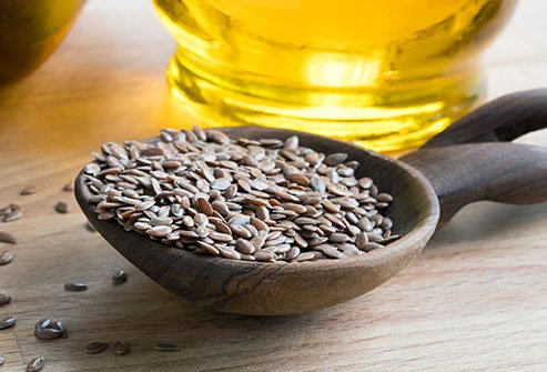 Add flax seeds to your diet to combat constipation.
