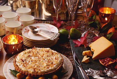 Holiday dessert and buffet table.