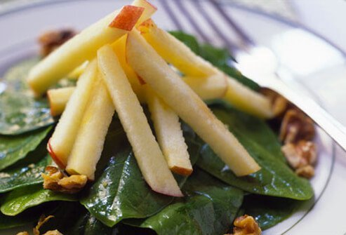 A spinach salad.