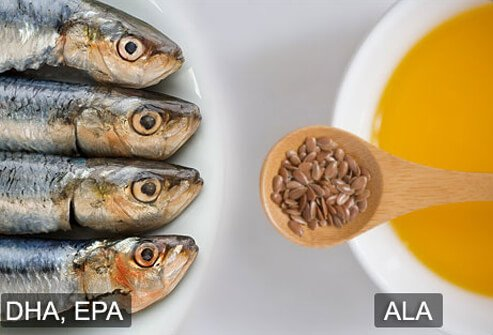 Examples of DHA, EPA, and ALA.
