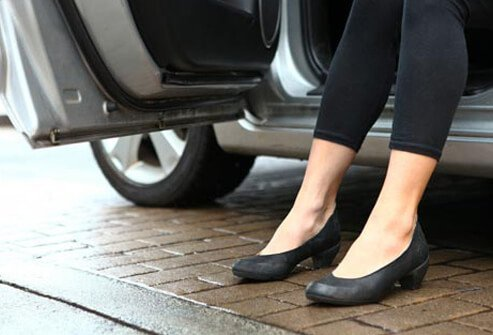 Osteoarthritis can make it difficult to get into and out of a car.
