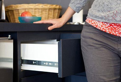 Use your hips to close drawers and cabinets.