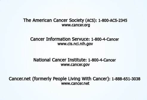 Programs and services for cancer patients.