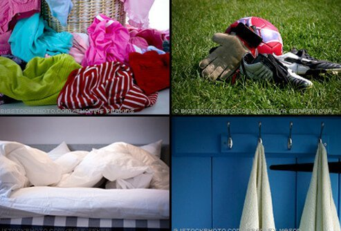 Ringworm prevention tip #1: Don't share clothing, sports gear, towels, or sheets.