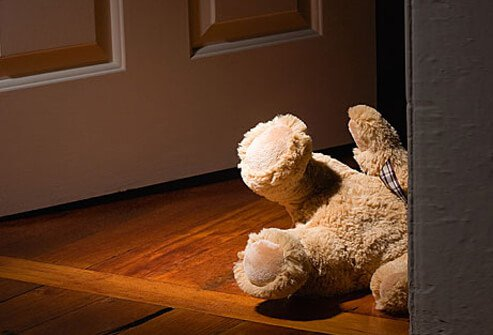 Photo of teddy bear dropped by sleepwalking child.