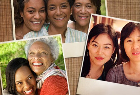 Photos of ethnic women who have a higher risk of getting lupus.